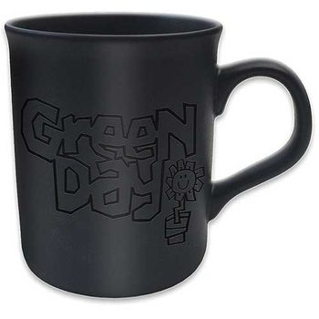 Green Day - Flowerpot Logo Matt Black Mug