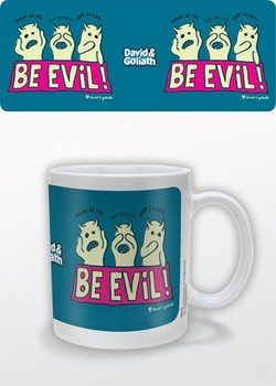Humor - Be Evil, David & Goliath Mug