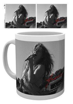 Janis Joplin - Singing BW Mug