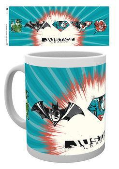 Justice League - JL Badges Mug