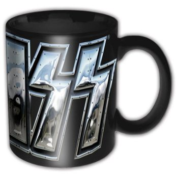 Kiss – Chrome Logo Black Mug