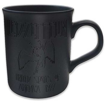Led Zeppelin - 77 Tour Matt Black Mug