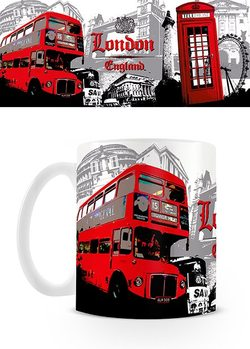 London - Red Bus Collage Mug
