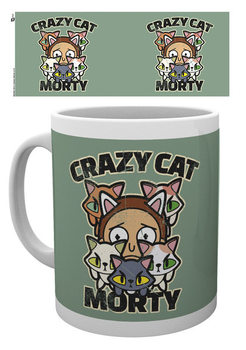 Rick And Morty - Crazy Cat Morty Mug