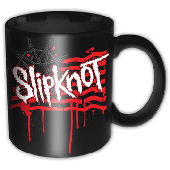 Slipknot – Dripping Flag And Logo Mug