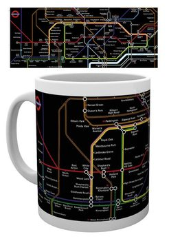 Transport For London – Black Map Mug