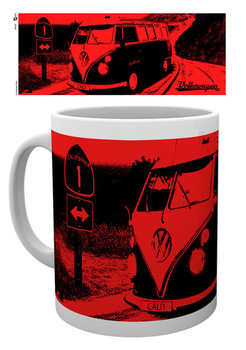 VW Camper - California Red Mug