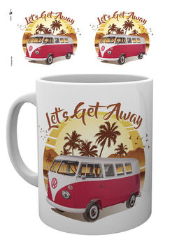 VW Camper - Lets Get Away Sunset Mug