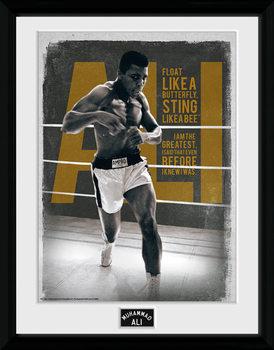 Muhammad Ali – Quotes 30x40cm Collector Print Poster encadré en verre