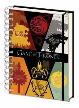 Game of Thrones - Sigils A5 notebook  Muistiinpanovälineet
