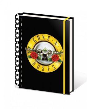Guns N' Roses - Bullet Logo A5 Wiro Notebook Muistiinpanovälineet