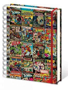 Marvel Retro - Aligned A4 notebook Muistiinpanovälineet