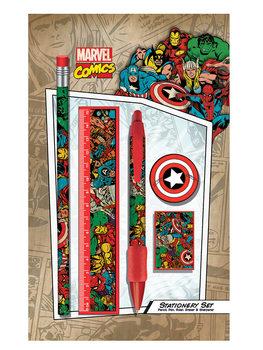 Marvel Retro - Collage stationery set Muistiinpanovälineet