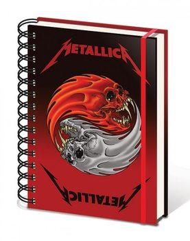 Metallica - Yin & Yang Skulls A5 Wiro Notebook Muistiinpanovälineet