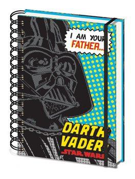Star Wars - I Am Your Father A5 Notebook Blue Muistiinpanovälineet