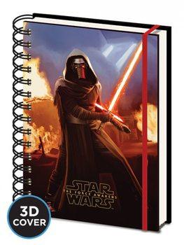 Tähtien sota: Episodi VII – The Force Awakens - Kylo Ren 3D Lenticular Cover A5 Notebook Muistiinpanovälineet
