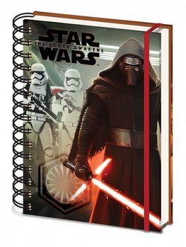 Tähtien sota: Episodi VII – The Force Awakens - Kylo Ren & Troopers A5 Notebook Muistiinpanovälineet