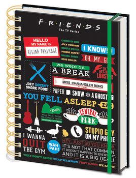 Muistikirjat Frendit - Friends - Infographic