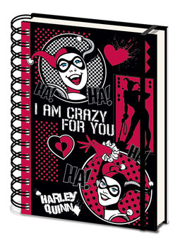 Muistikirjat Harley Quinn - I Am Crazy For You