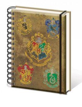 Muistikirjat Harry Potter - Hogwart's Crests A5