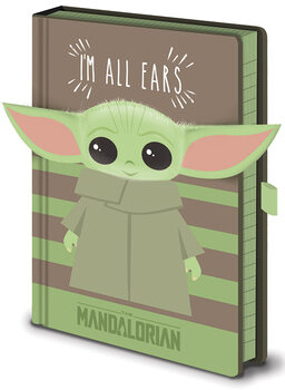 Muistikirjat Star Wars: The Mandalorian - I'm All Ears Green