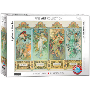 Puzzle Alphonse Mucha - The Four Seasons (Variant 3)