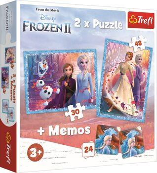 Puzzle Frozen: huurteinen seikkailu 2 2in1 + Memos