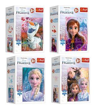 Puzzle Frozen: huurteinen seikkailu 2 4in1