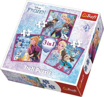 Puzzle Frozen: huurteinen seikkailu 3in1