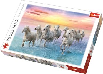 Puzzle Galloping White Horses