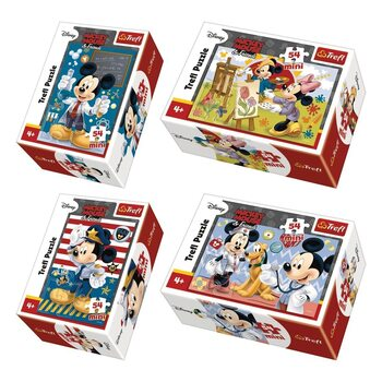 Puzzle Mikki Hiiri (Mickey Mouse) 4in1