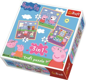 Puzzle Pipsa Possu (Peppa Pig) 3in1