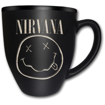 Nirvana – Smiley Matt Engraved Muki