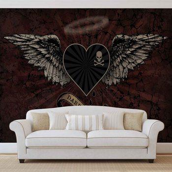 Murais de parede Alchemy Heart Dark Angel Tattoo