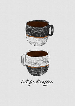 Murais de parede But First Coffee