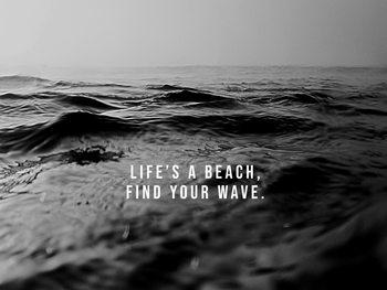 Murais de parede life's a beach