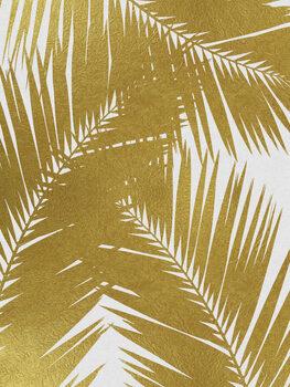 Murais de parede Palm Leaf Gold III