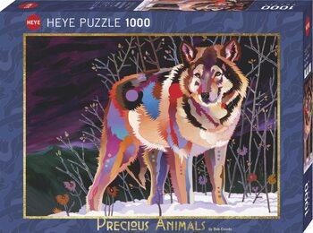 Puzzle Night Wolf