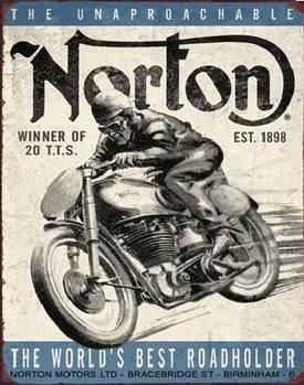 NORTON - winner Plaque métal décorée