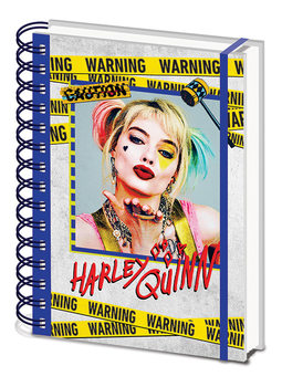 Notebook Birds Of Prey - Harley Quinn Warning