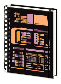 Notebook Star Trek TNG - Control Panel