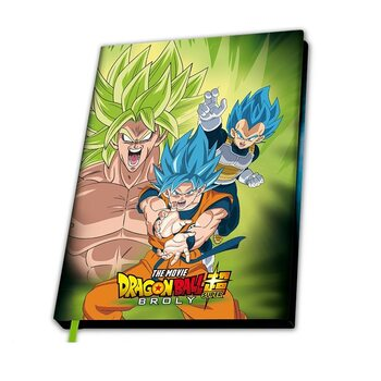 Notebook Dragon Ball - Broly vs Gokus & Vegeta