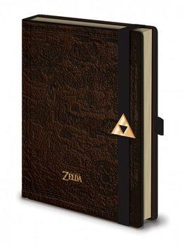 The Legend Of Zelda - Hyrule Map Premium A5 Notebook  Notebooks