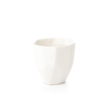 Candle Holder GEO, 9 cm White Matte Objectos Decorativos