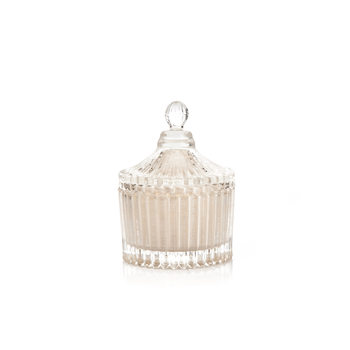 Candle with Lid Metal - Vanilla, White 9 cm Objectos Decorativos