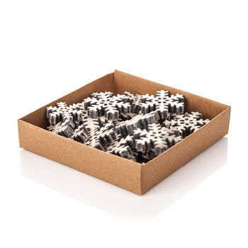 Christmas Box Decorative Snowflake, Various Sizes Objectos Decorativos