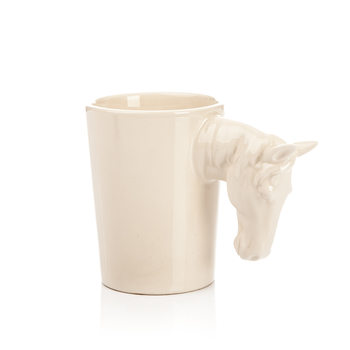 Mug with Horse Head Handle, 300 ml Objectos Decorativos