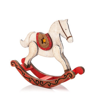 Wooden Rocking Horse 22 cm Objectos Decorativos