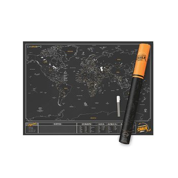 Scratch Map World Chalk Edition