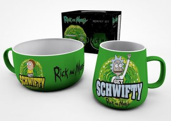 Conjunto de Pequeno-Almoço Rick And Morty - Get Schwifty